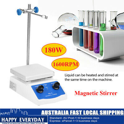 Magnetic Stirrer SH-2 Hotplate Mixer Hotplate 12x12 cm Top Plate with Heating AU