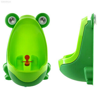 4AD6 Frog-shaped Potty Toilet Training Kids Urinal Baby Standing Pee bat Blue