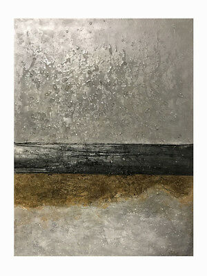 Abstract Gray HandPainted Oil Painting Modern Living Room Decor Wall Canvas Art