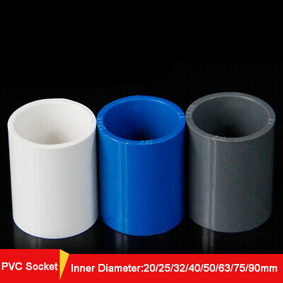 Metric 20-90mm PVC Socket Equal Straight Coupling  Pressure Pipe Fitting Connect