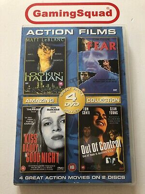 4 Films Action, Fear, Out of Control +2 DVD, Supplied by Gaming Squad