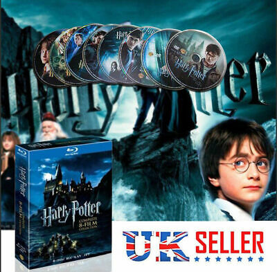 Harry Potter Complete 1-8 Movie DVD Collection Films Box Set Xmas Gift UK Seller