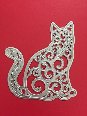 NEW• SITTING CAT DIE To Use With Sizzix or Cuttlebug