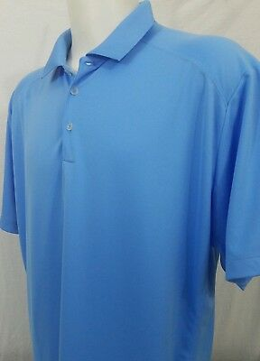 d0c710184f35 Men s NIKE GOLF TOUR PERFORMANCE Dri-Fit Polo Golf Shirt XXL 2XL Blue EUC