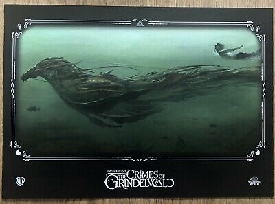 Fantastic Beasts Crimes Of Grindelwald NEW ODEON A4 Poster 1 Kelpie Harry Potter