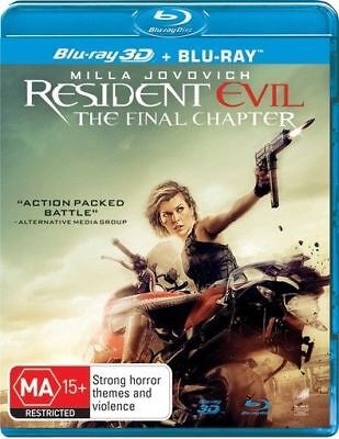 The Resident Evil - Final Chapter : Brand New / Sealed Blu-Ray 3D