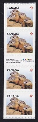 Canada 2604i Strip of 4 with inscription (Woodchucks)