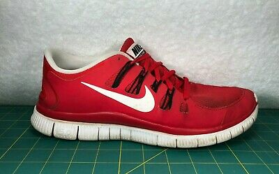 f46f3b03f80a3 Nike Free 5.0 Game Red And White Black Running Shoes Sneakers~Men s Size 11