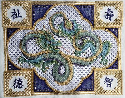 completed finished cross stitch Teresa wentzler celestial dragon exclusive gift