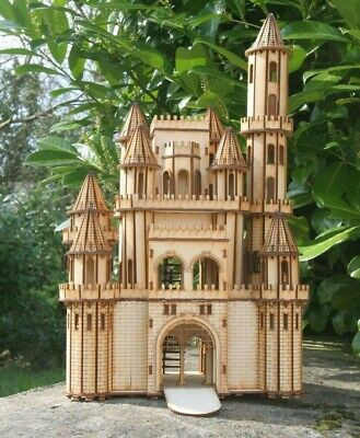 Laser cut ply wood wooden Fantasy Castle 3d puzzle / Kit