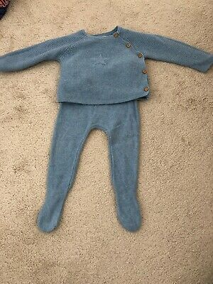 Zara Knitted Blue Suit