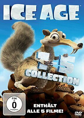 ICE AGE 1 - 5 DVD Box Collection NEU alle 5 Filme 1 2 3 4 5 KOLLISION VORAUS