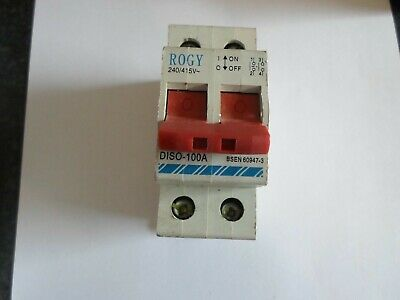 Rogy 100 Amp Diso-100A Double Pole Main Switch Isolator