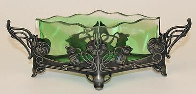 Art Nouveau Wmf Silverplate With Green Verde Insert