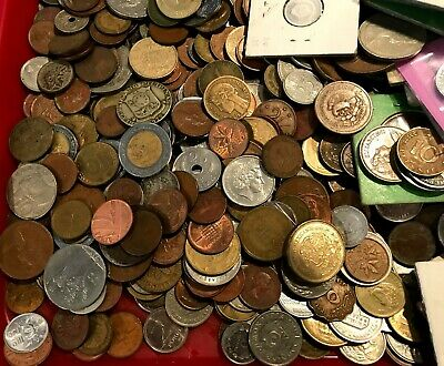 """""""FOREIGN COIN LOT"""" 4-Pounds Mixed Lot"""