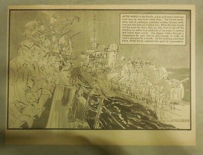 Magazine Picture: George Bundy Pacific Fleet ! from WW 2 from 1945 Size:11 x 15