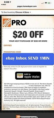 One 1x~ Home Depot $20 off $200 In-Store Only-1Coupon --Very-FAST-1min~~~