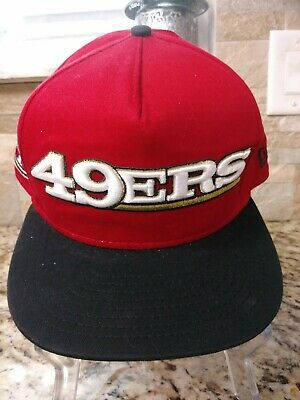 d0a6be40 San Francisco 49ers New Era 9Fifty Snap back NFL Adjustable Hat Red/Black  NEW!