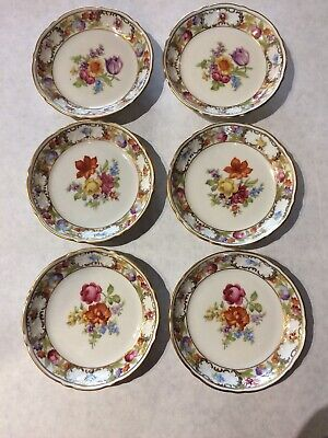 set of 6 schumann empress dresden flowers Coasters