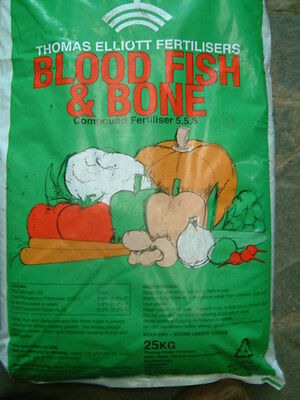 25kg  BLOOD, FISH & BONE MEAL (NPK 5-5-6) ORGANIC FERTILISER
