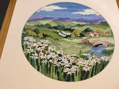 Choice of 2 FINISHED FRAMED LONGSTITCH EMBROIDERY 40cm square VGUC