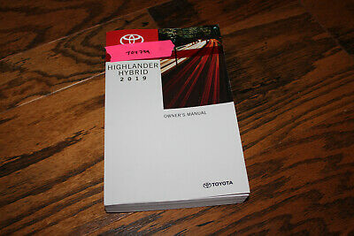 2017 Toyota Highlander Hybrid Owners Manual Toy725