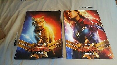 CAPTAIN MARVEL (2019 FILM) DOUBLE SIDED MOVIE POSTER -- please specify shipping!