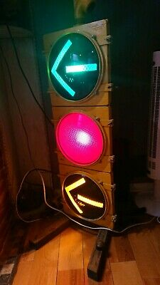 Retired Vintage LFE Traffic Signal Light Includes Shades and Base-ITS HUGE