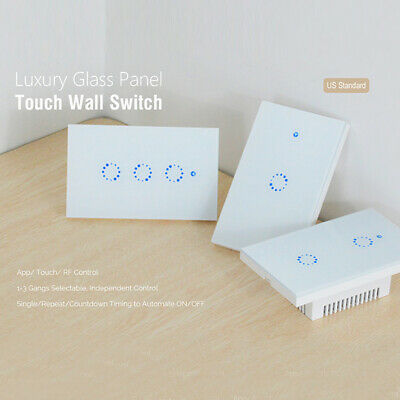 Smart Home Switch Remote Light Touch Control Wireless Voice Control WIFI