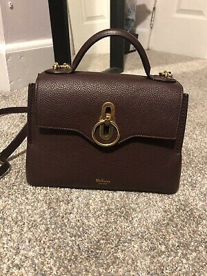1f0080ab1e83 Mulberry Handbag Seaton Small Oxblood Leather Top Handle Strap Bag Authentic