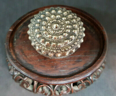 Antique Chinese Export Solid Silver Betel Box 29.7 G.