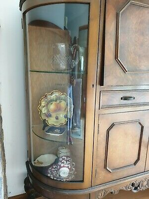 Antique Furniture Vintage Sherry Bar Buffet display cabinet