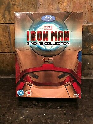 Iron Man Trilogy Collection Blu-ray Contains 3 Films