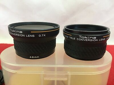 Tokina - Video Wide Conversion 0.7x & Tele conversion 1.4x Lens - In Case -