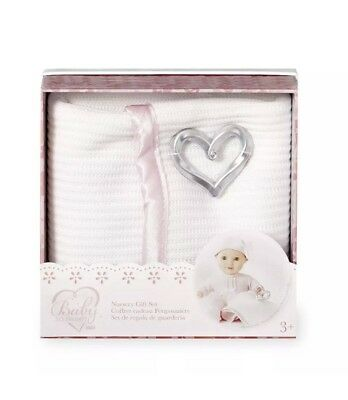 You & Me Baby So Sweet Knit Doll Blanket with Rattle Nursery Gift Set Toy Kids