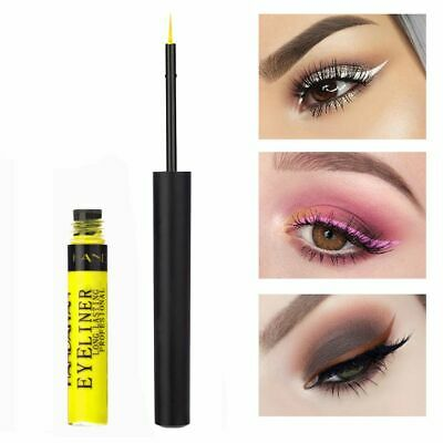 Waterproof Gold White Red Eyeshadow 12 Colors Matte Eyeliner Eyeliner Liquid