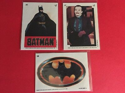 Batman 1989 Movie Trading Cards Stickers MIXED LOT OF 7 Topps Non-Sport