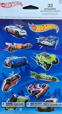 Hot Wheels Stickers 3 Sheets New Sealed Free Ship Sale!!