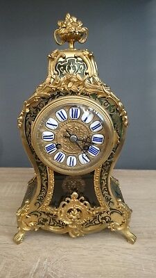 French green boulle clock Roblin