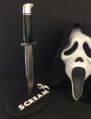 Scream Movie Ghostface Knife & Stand 1:1 Film Accurate Real Horror Prop Mask New