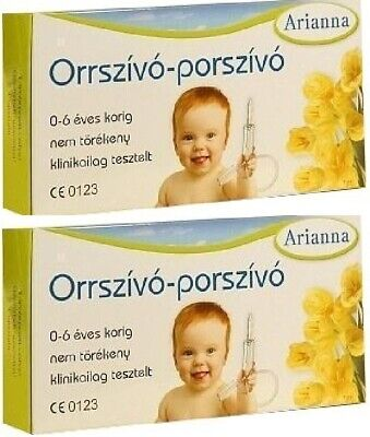 ARIANNA Baby Vac Vacuum Nasal Aspirator Infants Children Nose Cleaner 2 Pcs.