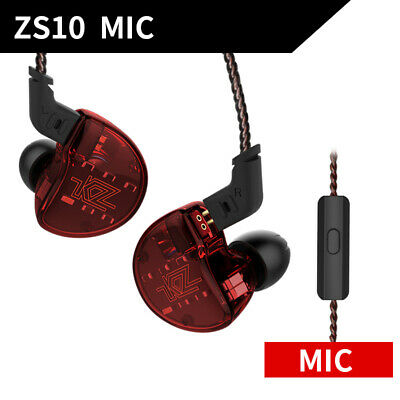 3.5mm Wired Super Bass Headset In-Ear Earbud Earphone with Microphone KZ ZS10