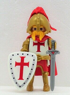 Duke of Crusader Knights Templar B Playmobil to Crusader Templar Red Gold RAR