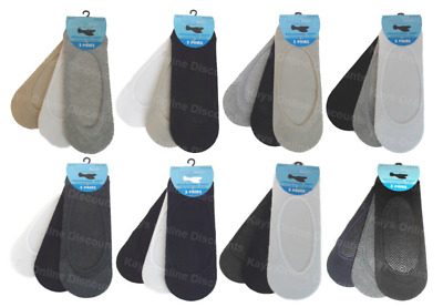 Invisible Trainer Socks Ladies Mens No Show Shoe Liners Footsies 3 Pairs Adults