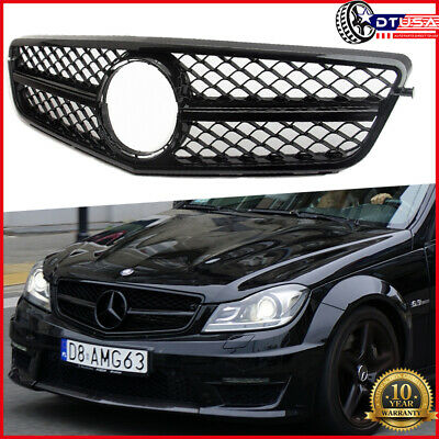 AMG C63 Style Grill Grille for Mercedes-Benz W204 C200/250/300/350 2007-2014