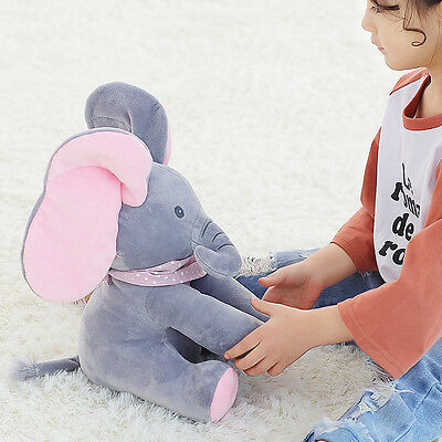 Peek-a-boo Elephant Children Plush Doll Singing Stuffed Pink Animated  Soft Toys
