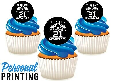 1ST BIRTHDAY BLUE NUMBER 12 Edible Stand Up Premium Wafer Cake Toppers