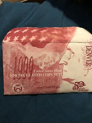 1999 UNCIRCULATED Genuine U.S. MINT SETS ISSUED BY U.S. MINT