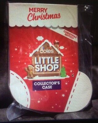 Coles Little Shop Mini Collectables-<>-Christmas Edition-<>-Case Only-<>-Bnip--