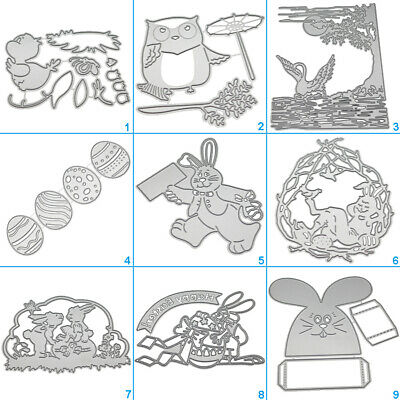 Happy Rabbit Cutting Dies Metal Stencil DIY Scrapbooking Album Paper Card Egg